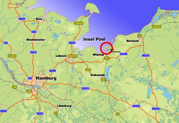 wismar landkarte deutschland Landkarte   Insel Karte und Straßenkarte der Ostseeinsel Poel bei