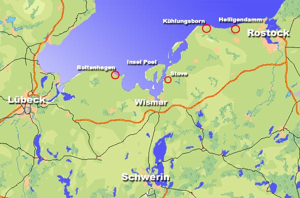 Karte Insel Poel Und Umgebung.Urlaub An Der Ostsee Infos Fur Ihre Ferien Z B Badeurlaub